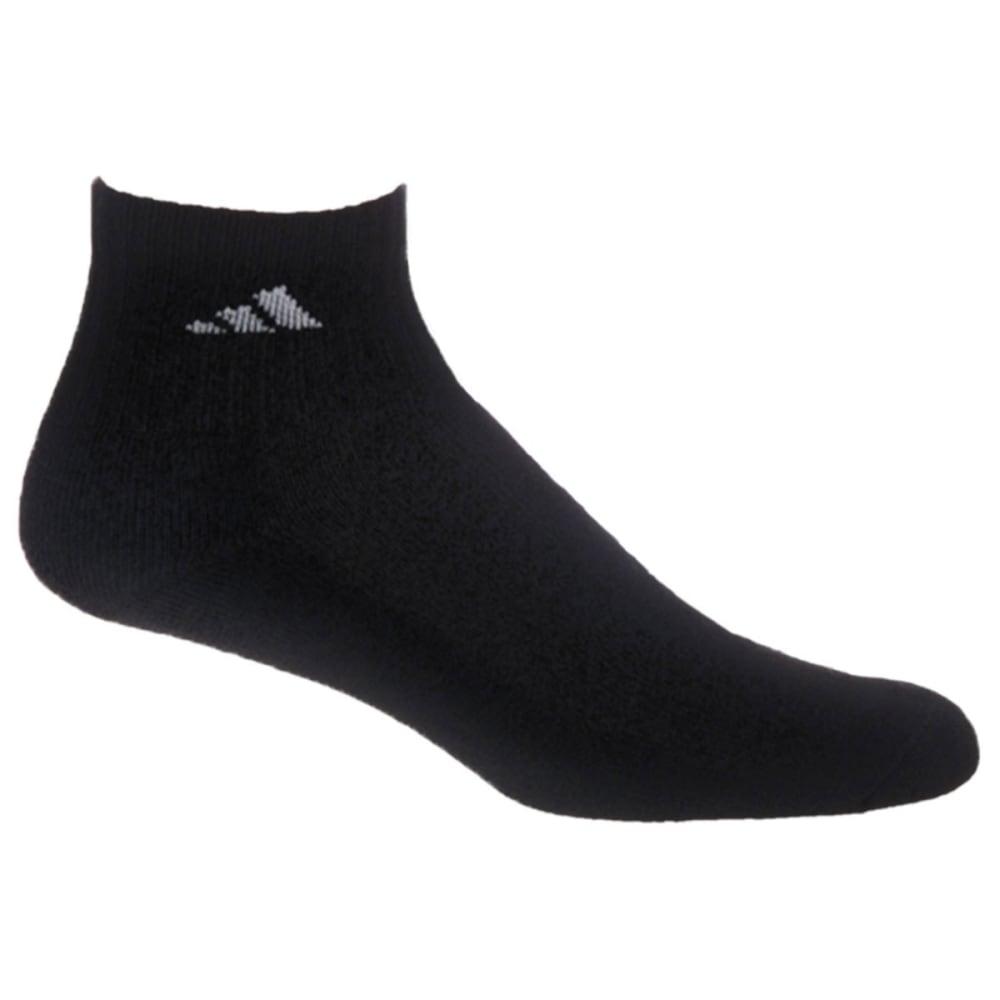 ADIDAS Men's Athletic Quarter Socks, 6-Pack - BLACK