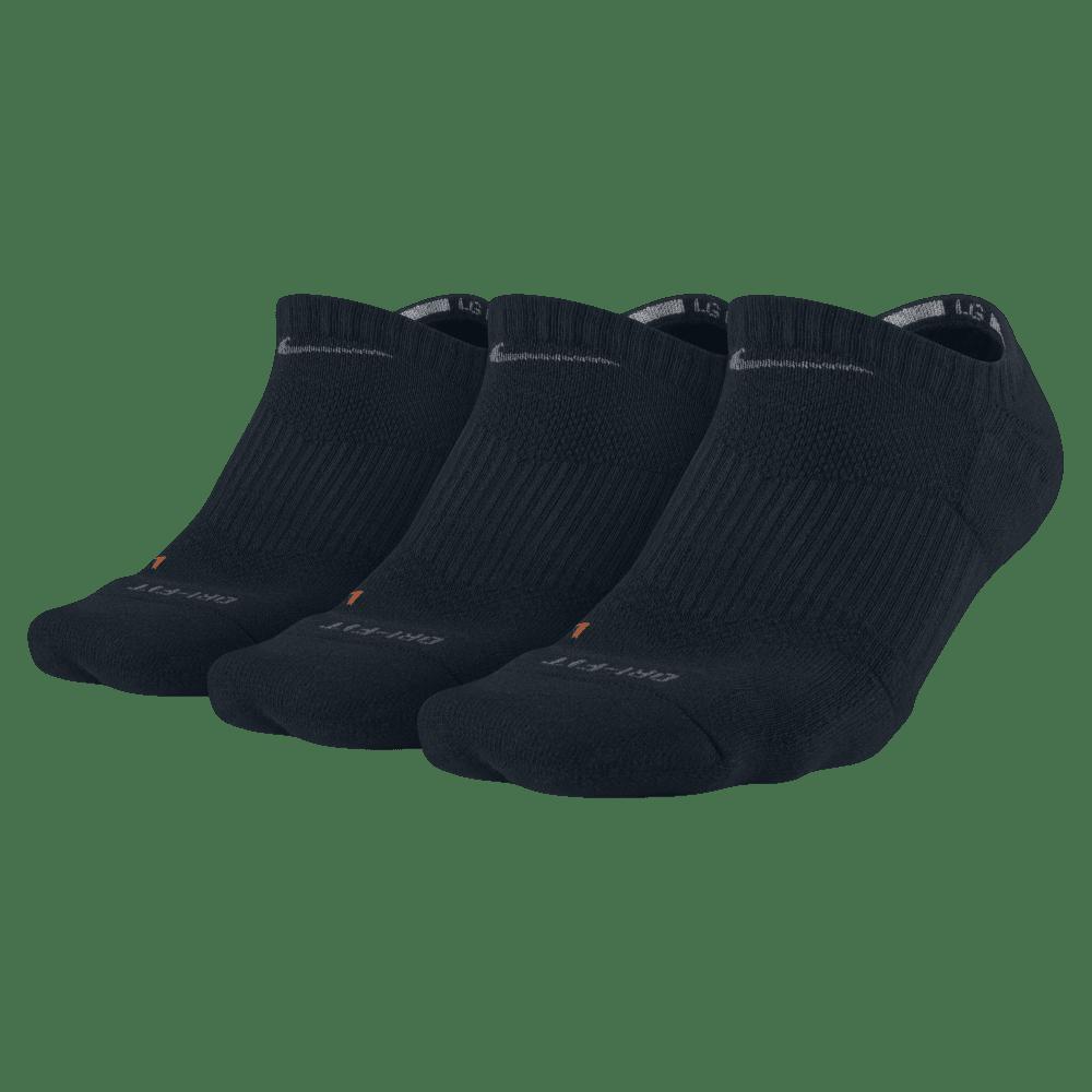 NIKE Unisex Dri-Fit No Show Socks, 3 Pairs NO SIZE