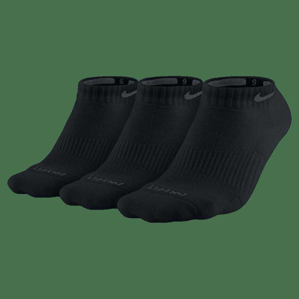 NIKE Women's Performance Cushion Graphic No-Show Training Socks, 3-Pack - BLACK 001 LARGE
