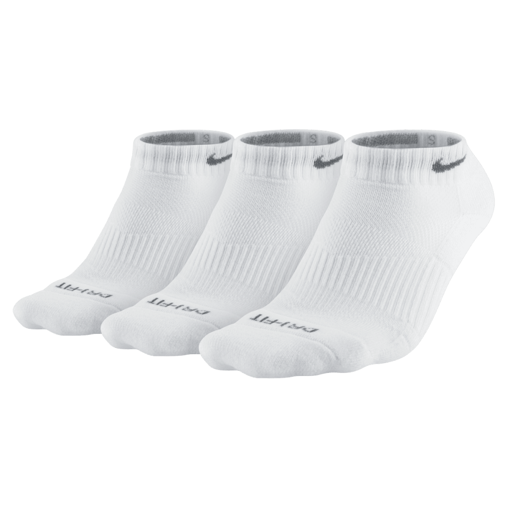 NIKE Women's Performance Cushion Graphic No-Show Training Socks, 3-Pack L