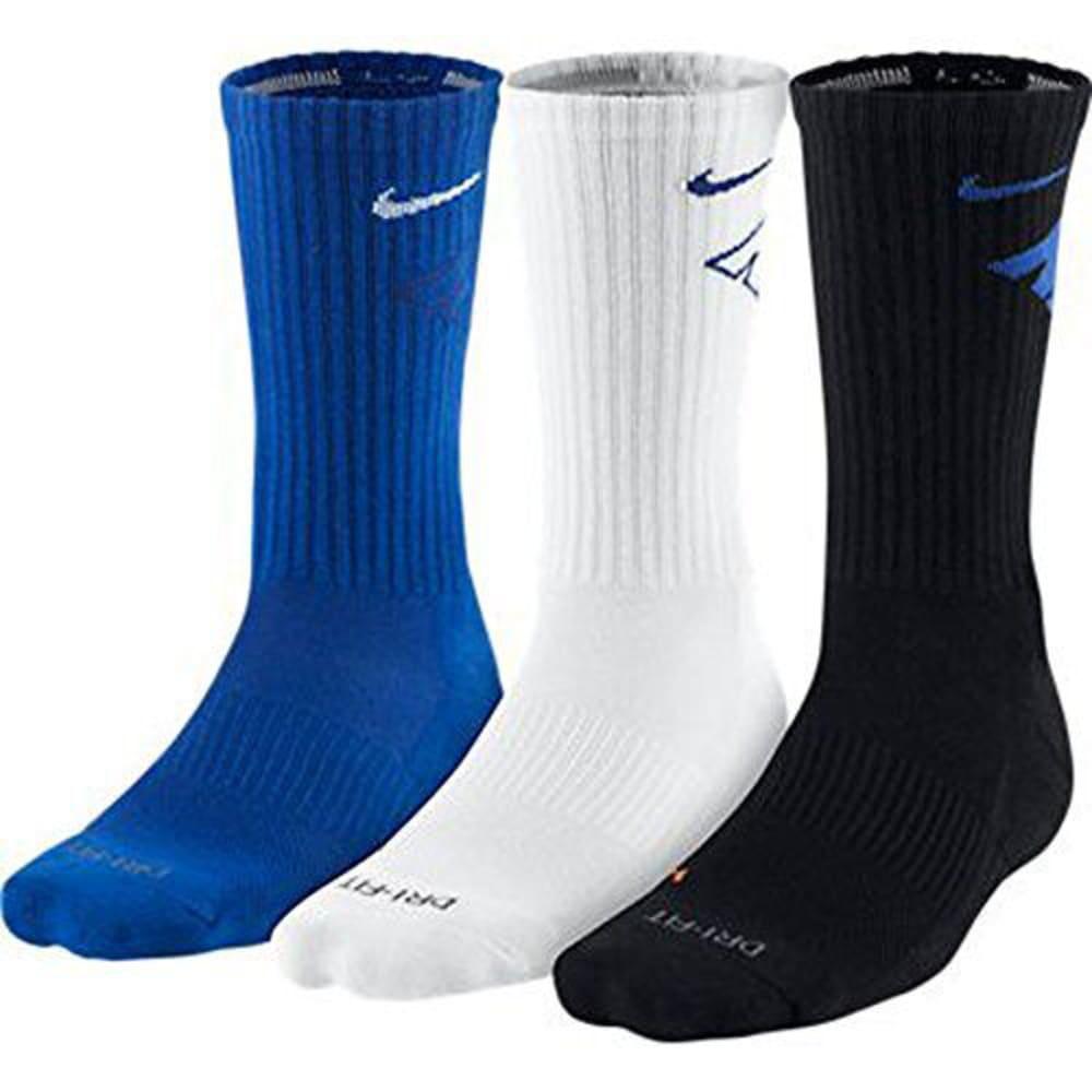 NIKE Men's Dri-Fit Crew Socks, 3 Pairs L
