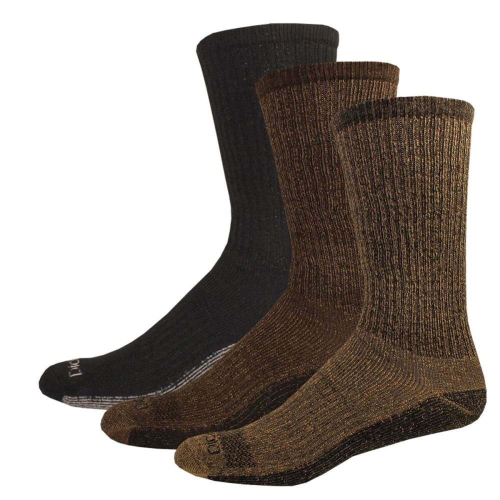 DICKIES DriTech Work Socks, 3 Pack - KHAKI HEATHER-254