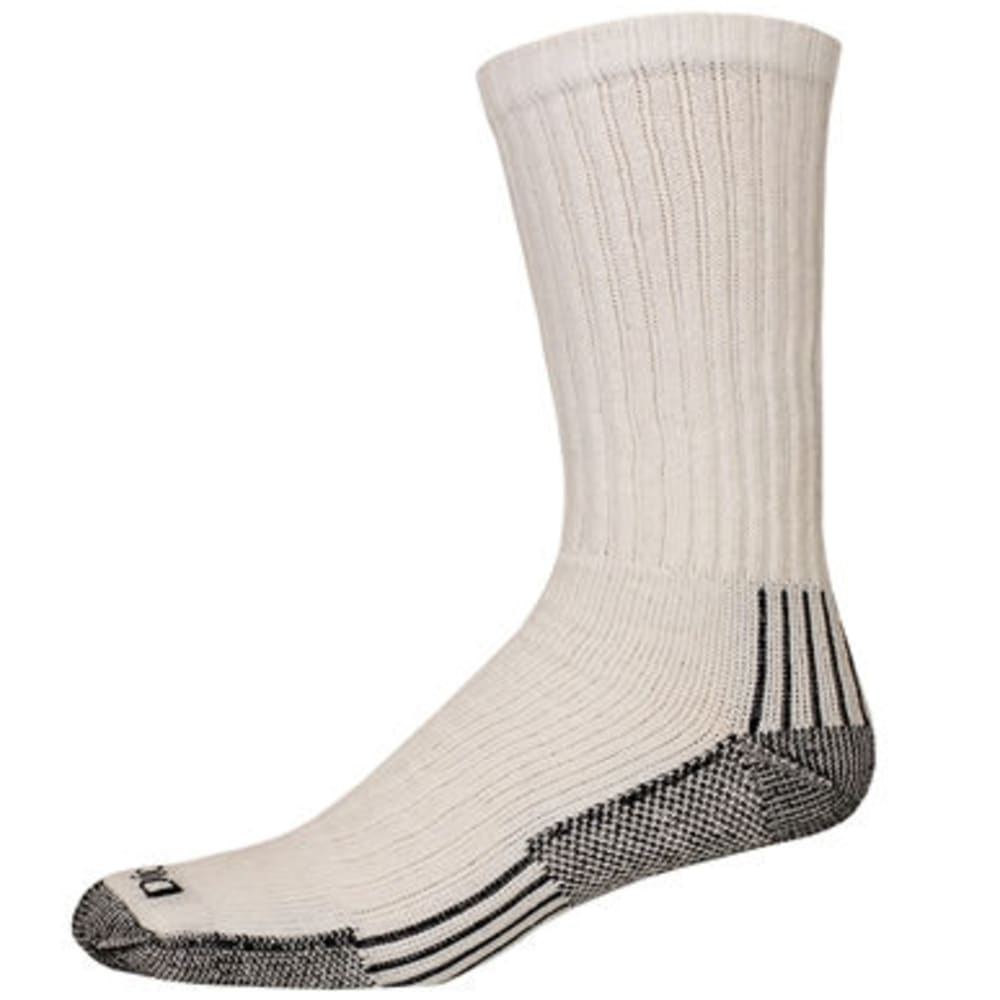 DICKIES Men's Dri-Tech Crew Socks, 3-Pack - 100-WHT