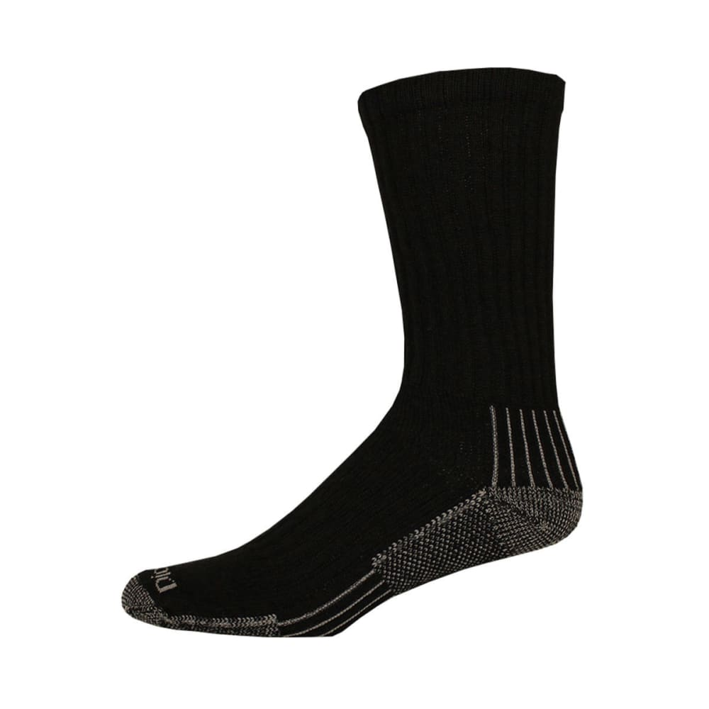 DICKIES Industrial Heavyweight Cushioned Work Socks, 3 Pack - BLACK-01