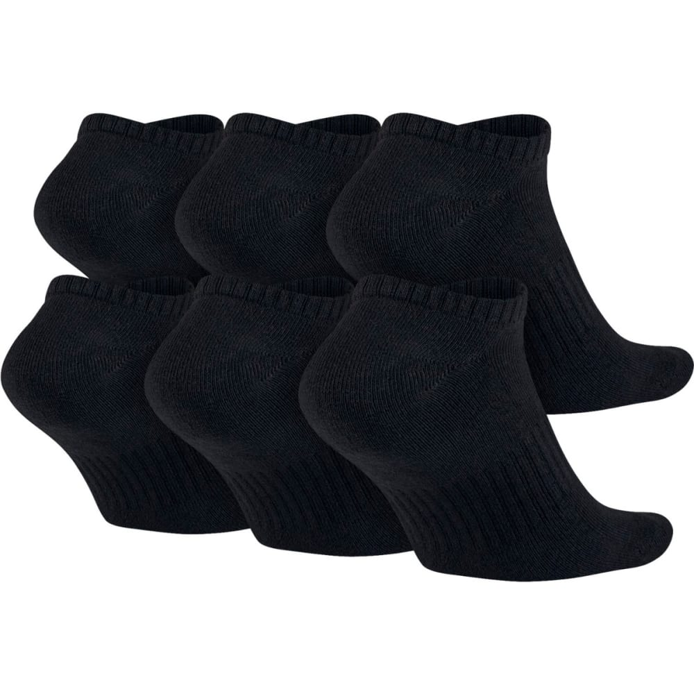 NIKE Men's Banded No Show Socks, 6 Pairs - BLACK