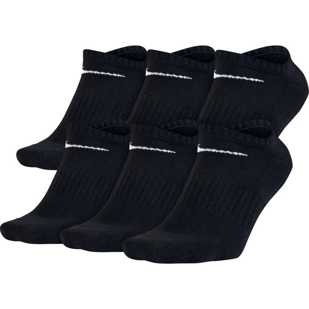 NIKE Men's Banded No Show Socks, 6 Pairs - BLACK