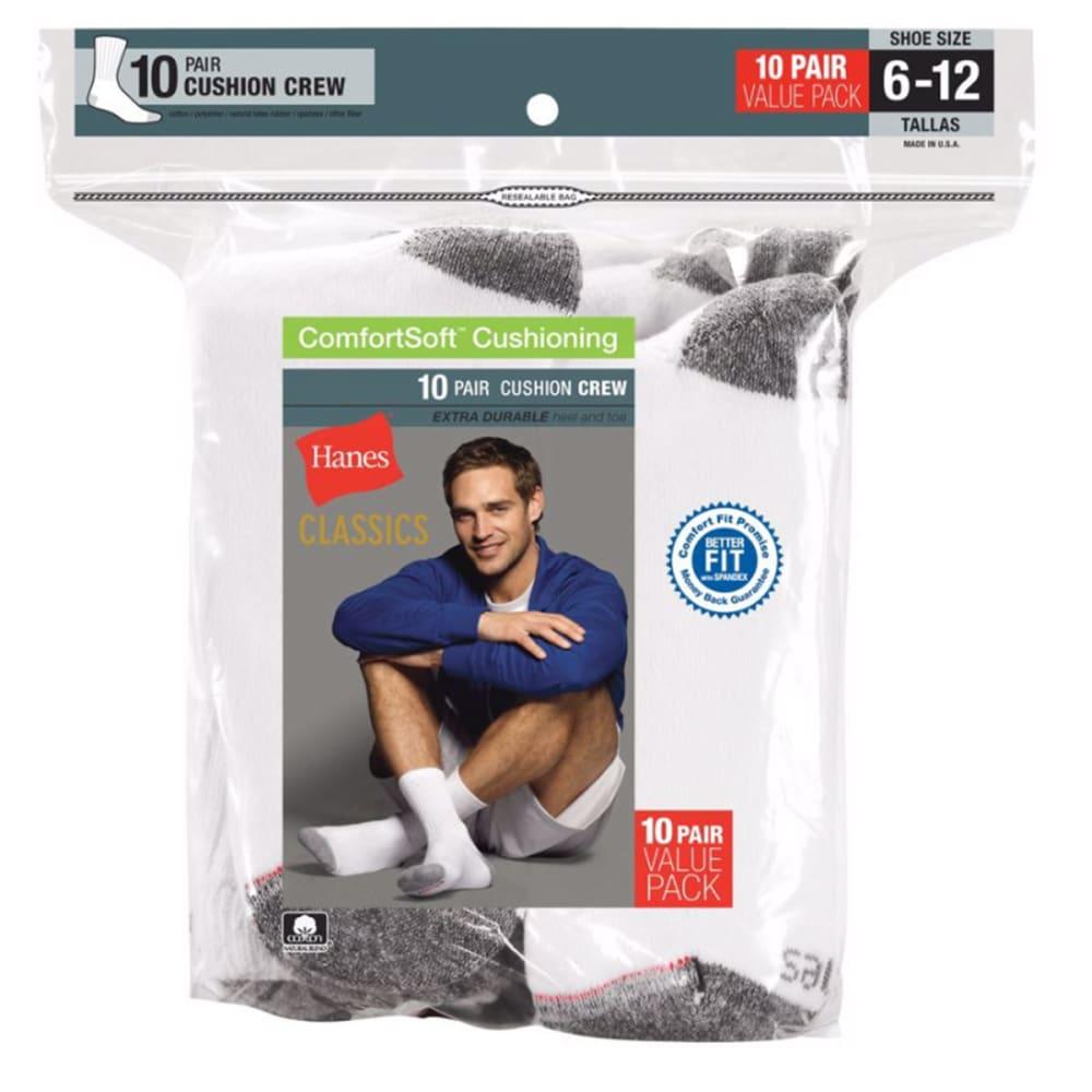 HANES Classics Men's Crew Socks, 10-Pack 10-13