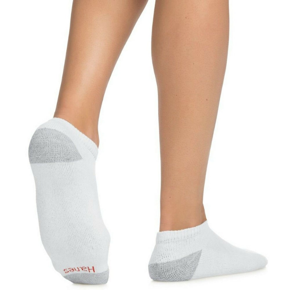 HANES Men's Low Cut Socks, 10-Pack - WHITE