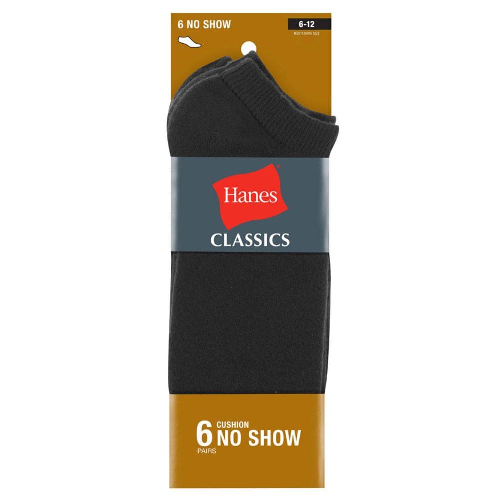 HANES Classics Men's Extra Low Cut Socks, 6-Pack 10-13