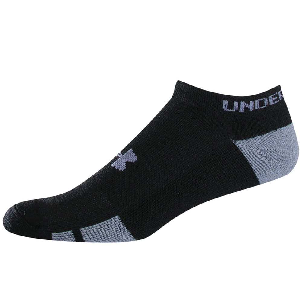 UNDER ARMOUR Men's Resistor No Show Socks, 6-Pack - BLACK