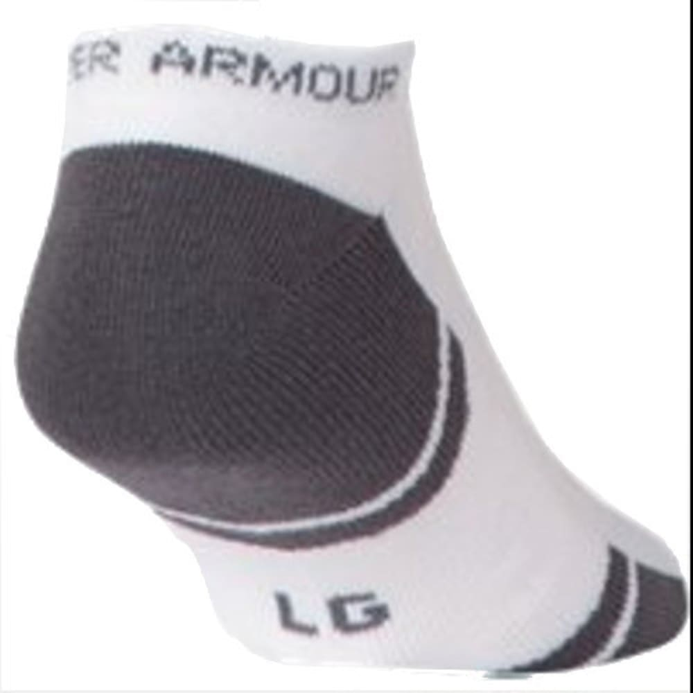 UNDER ARMOUR Men's Resistor No Show Socks, 6-Pack - WHITE