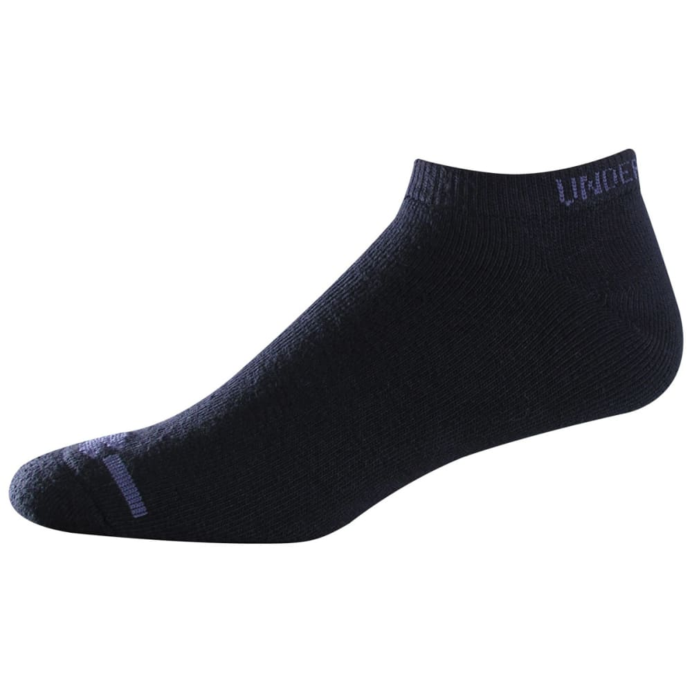 UNDER ARMOUR Men's Charged Cotton® No Show Socks, 6-Pack - BLACK