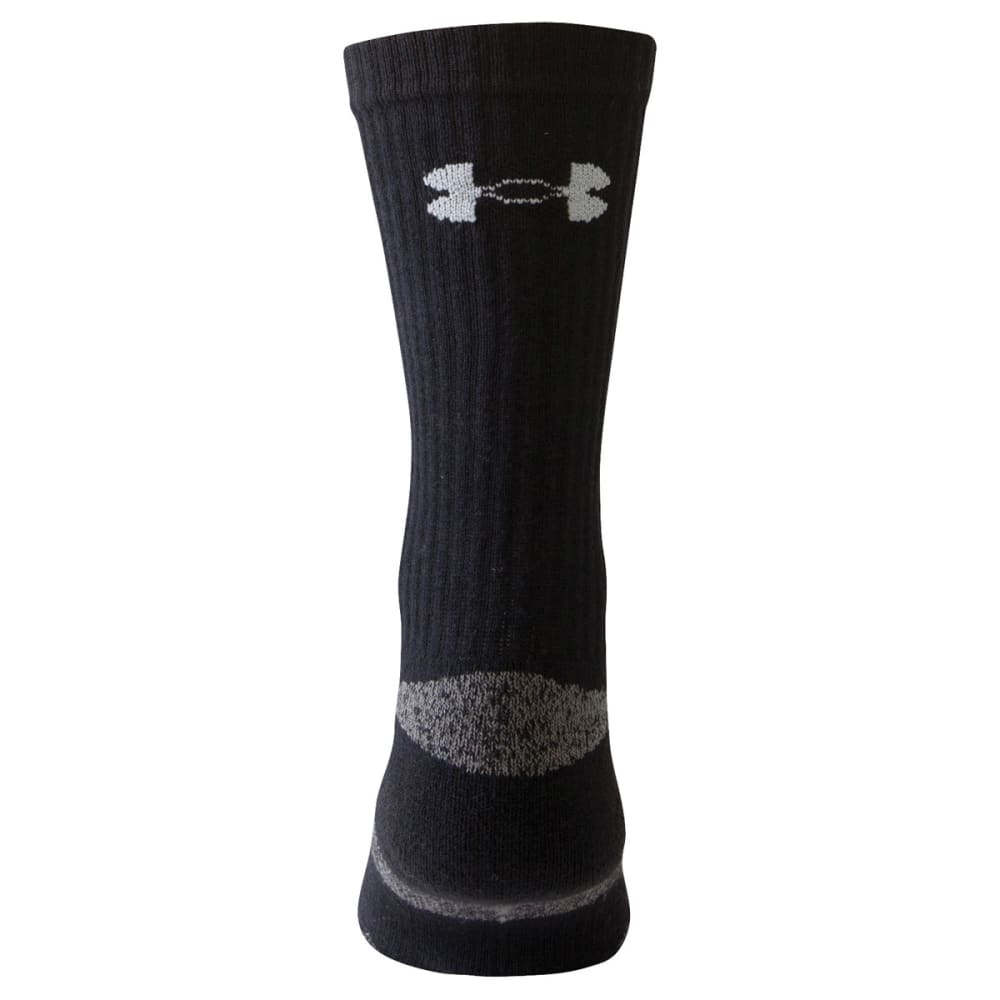 UNDER ARMOUR Men's HeatGear® Crew Socks - BLACK LARGE