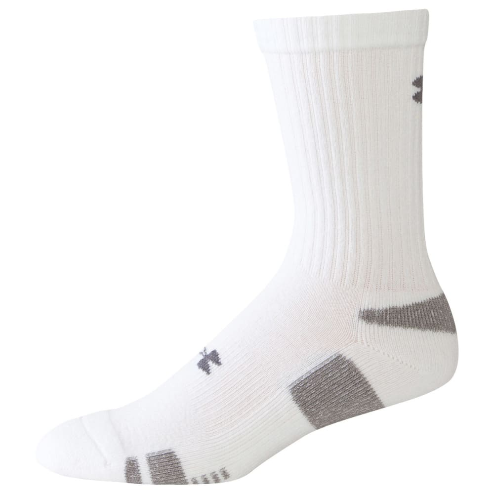 UNDER ARMOUR Men's HeatGear® Crew Socks - WHITE