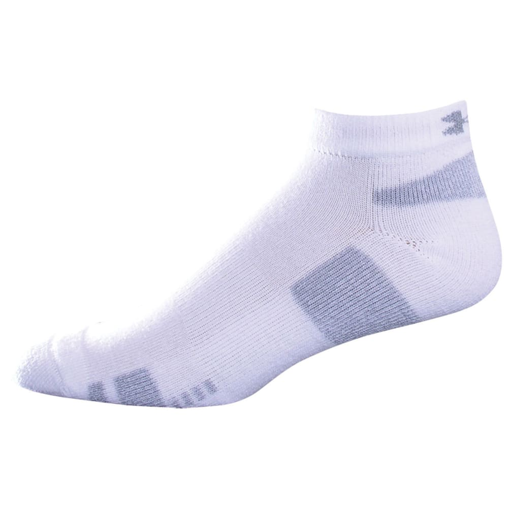 UNDER ARMOUR Men's HeatGear® Lo Cut Socks - WHITE LARGE