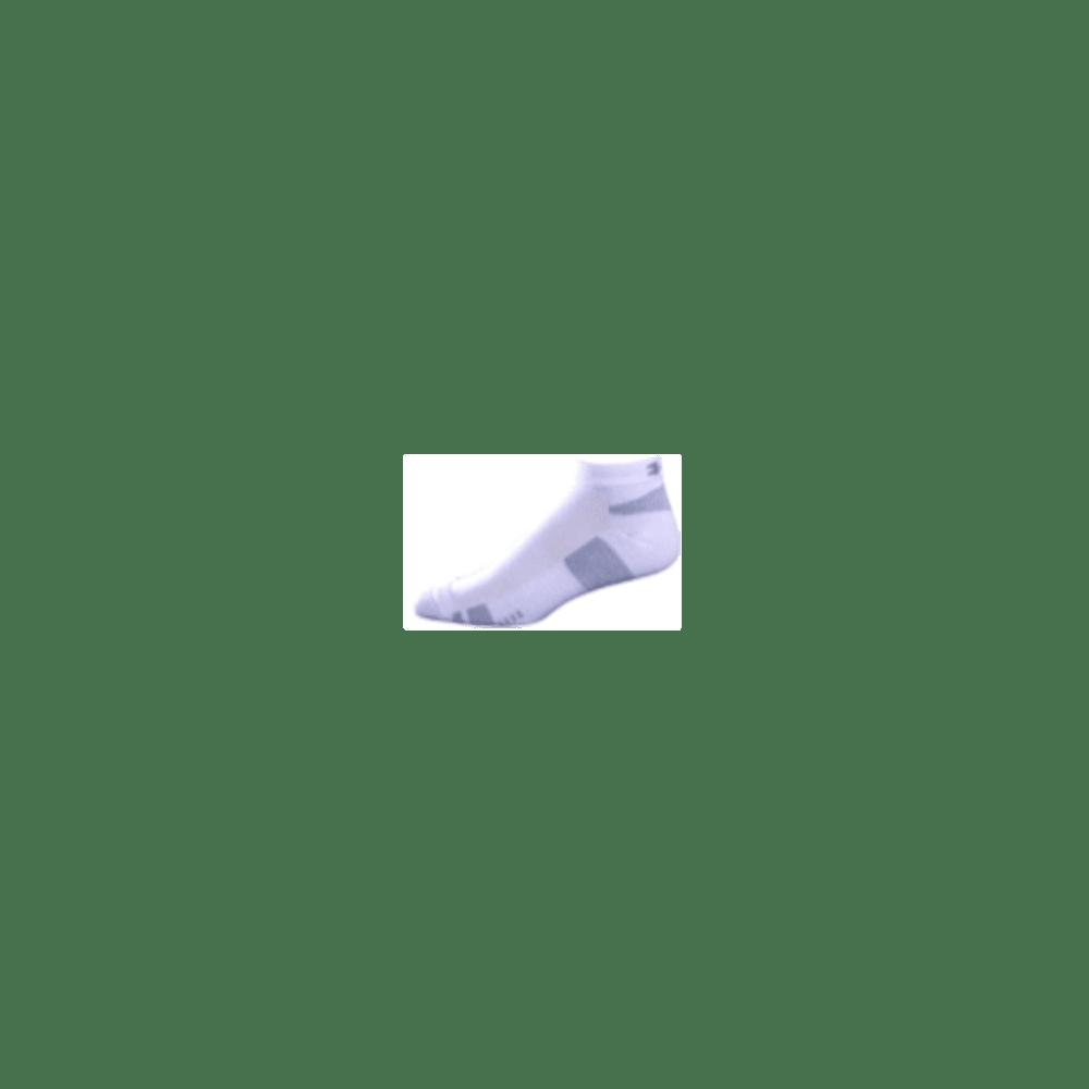 UNDER ARMOUR Men's HeatGear® Lo Cut Socks - WHITE MEDIUM