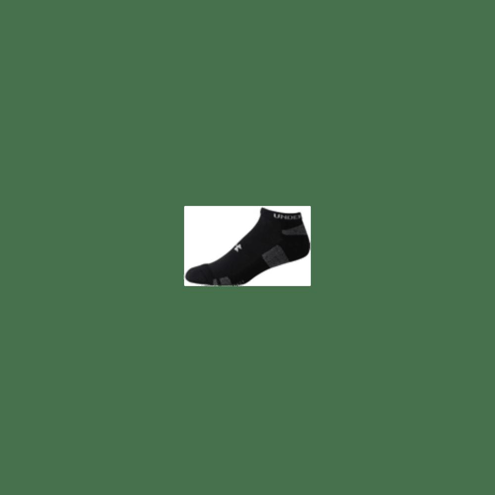 UNDER ARMOUR Men's HeatGear® No Show Socks - BLACK MEDIUM