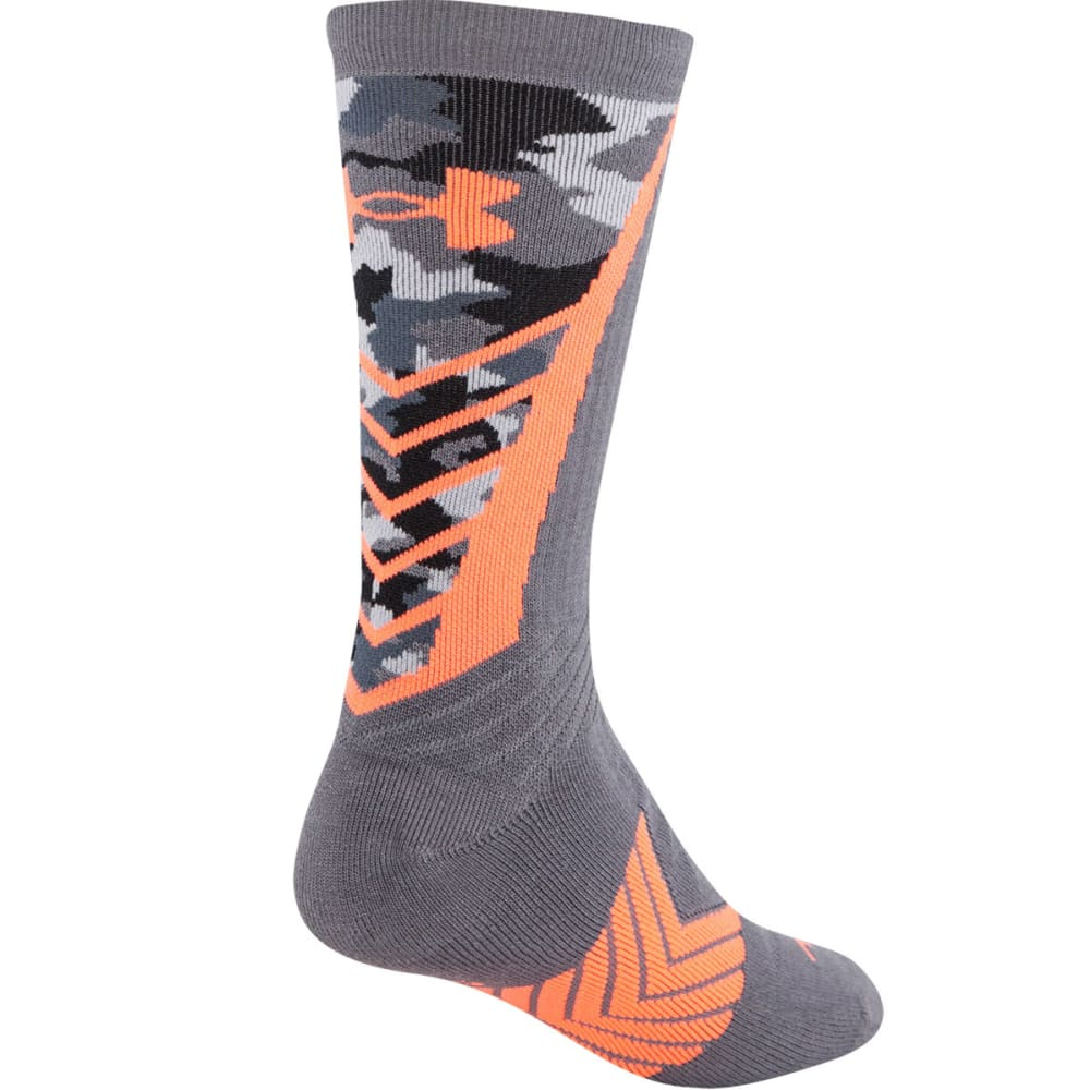 UNDER ARMOUR Men's Undeniable Crew Socks - GRAPHITE/AFTER GLOW