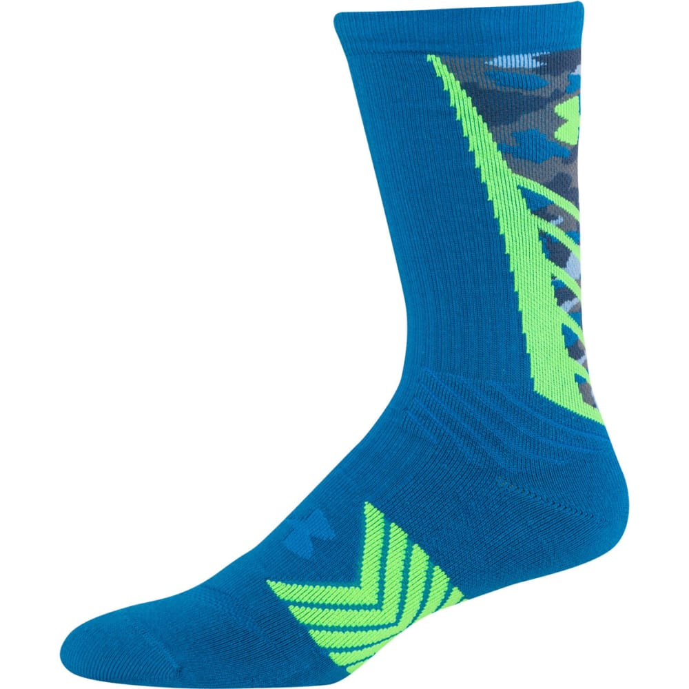 UNDER ARMOUR Men's Undeniable Crew Socks - BLUE JET