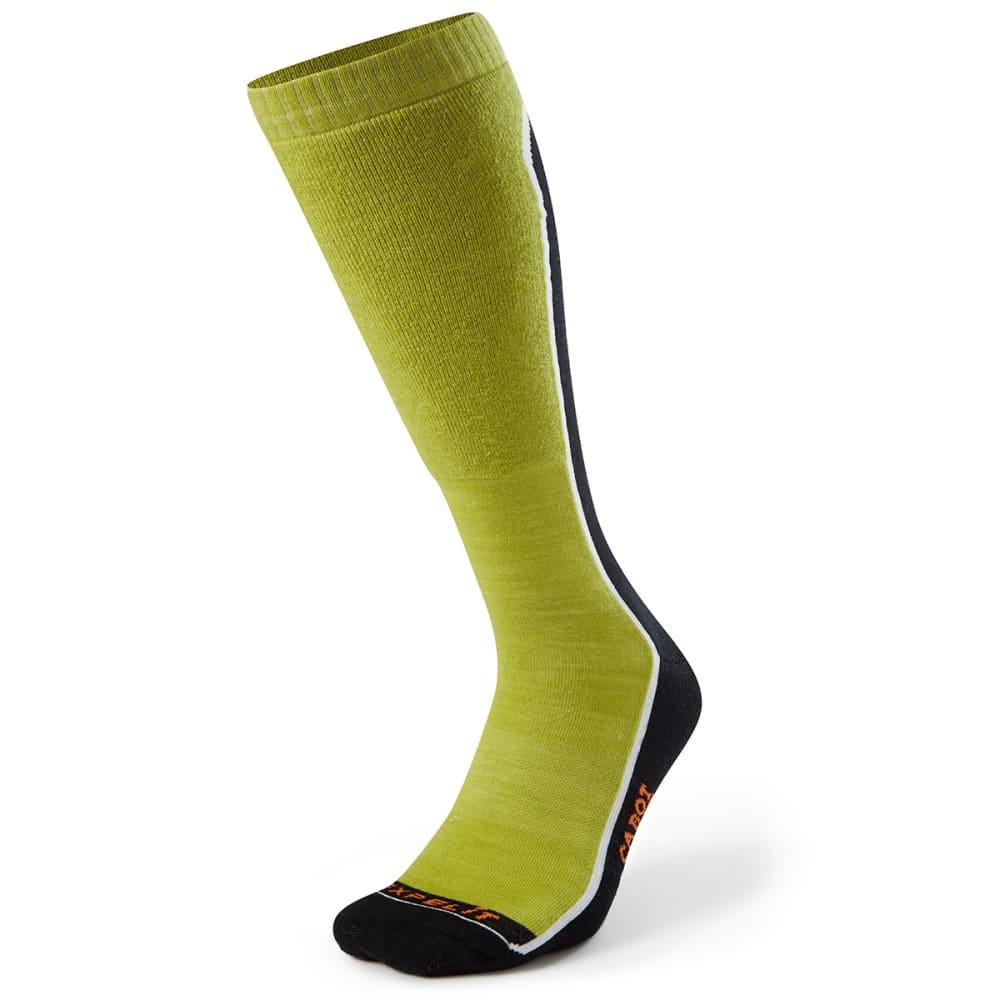 CABOT Men's Fault Line Ski Socks - BLK/GREEN