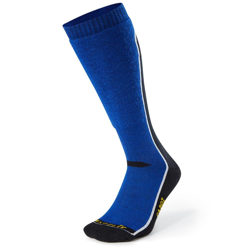 CABOT Men's Fault Line Ski Socks - BLK/MARINE