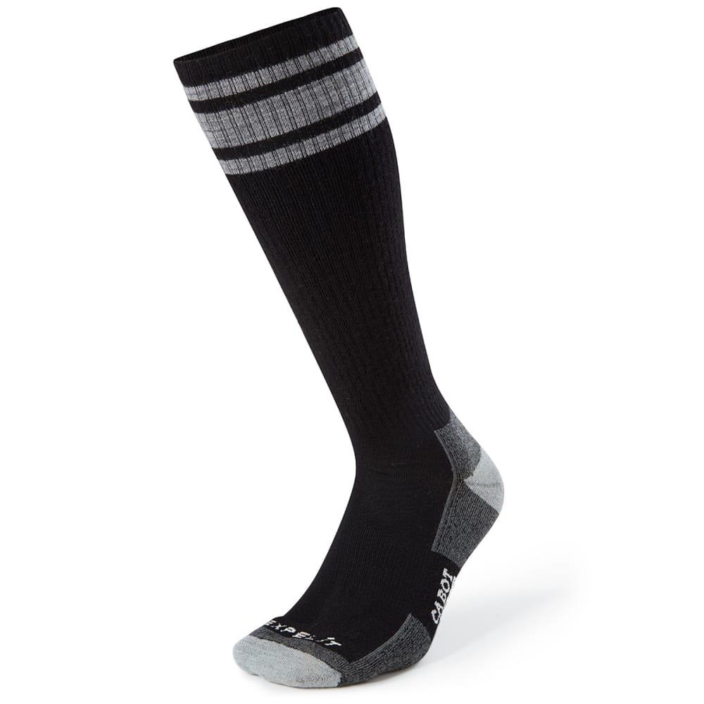 CABOT Men's Varsity Stripe Crew Socks - BLK/LT GREY
