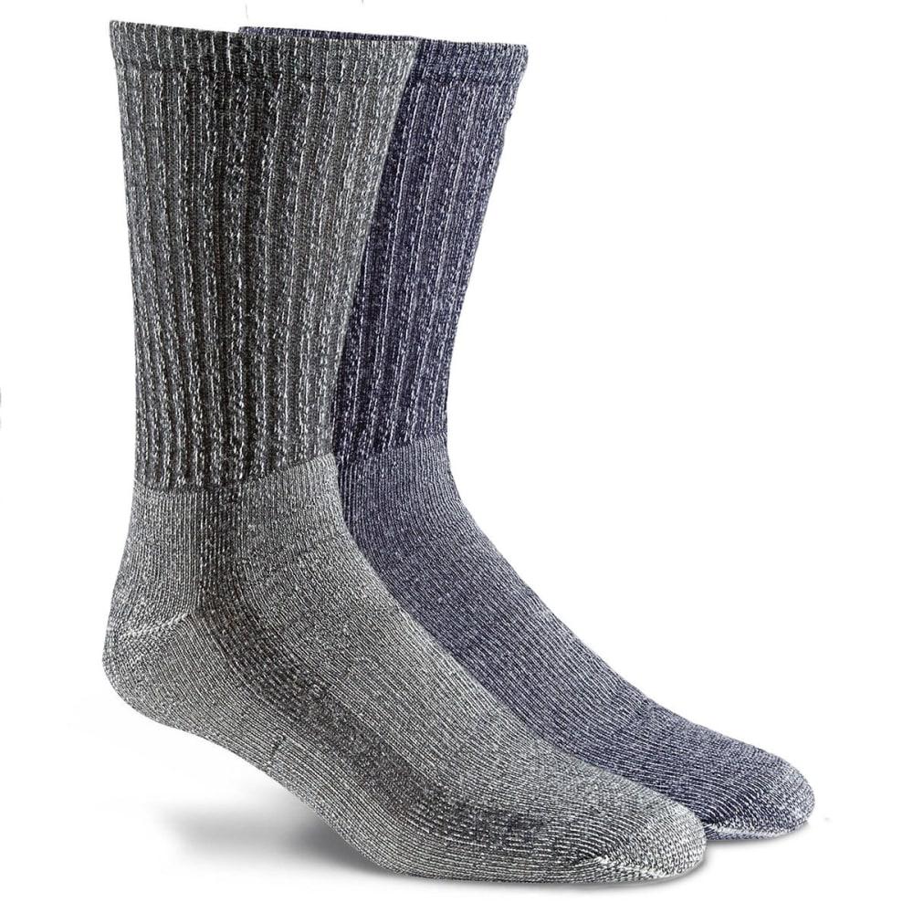 FOX RIVER Men's Merino Hiking Crew Socks, 2-Pack - ASSORTED