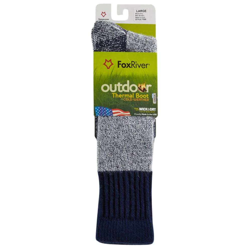 Fox River Mens' 7586 Outdoor Wick Dry Outlander Thermal Boot Sock - NAVY 2030