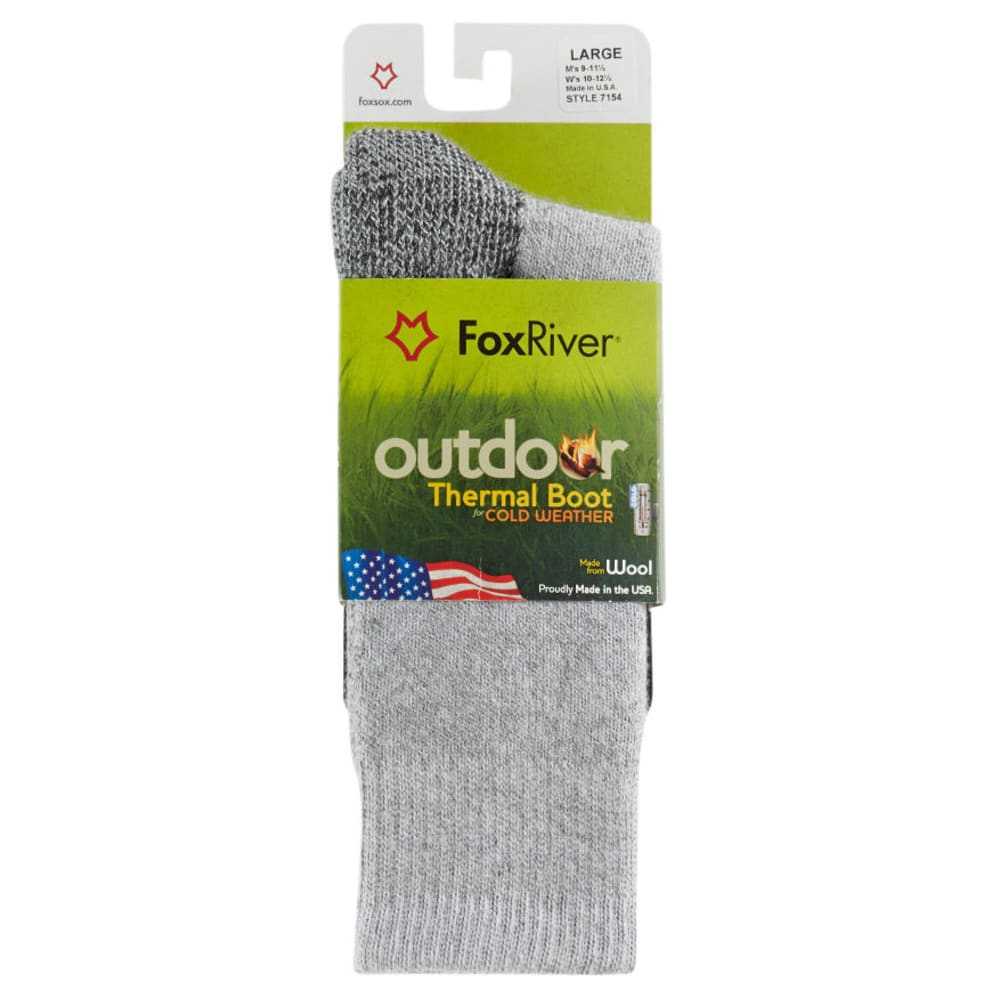 Fox River Men's 7154 Outdoor Thermal Boot Sock - GREY 7030