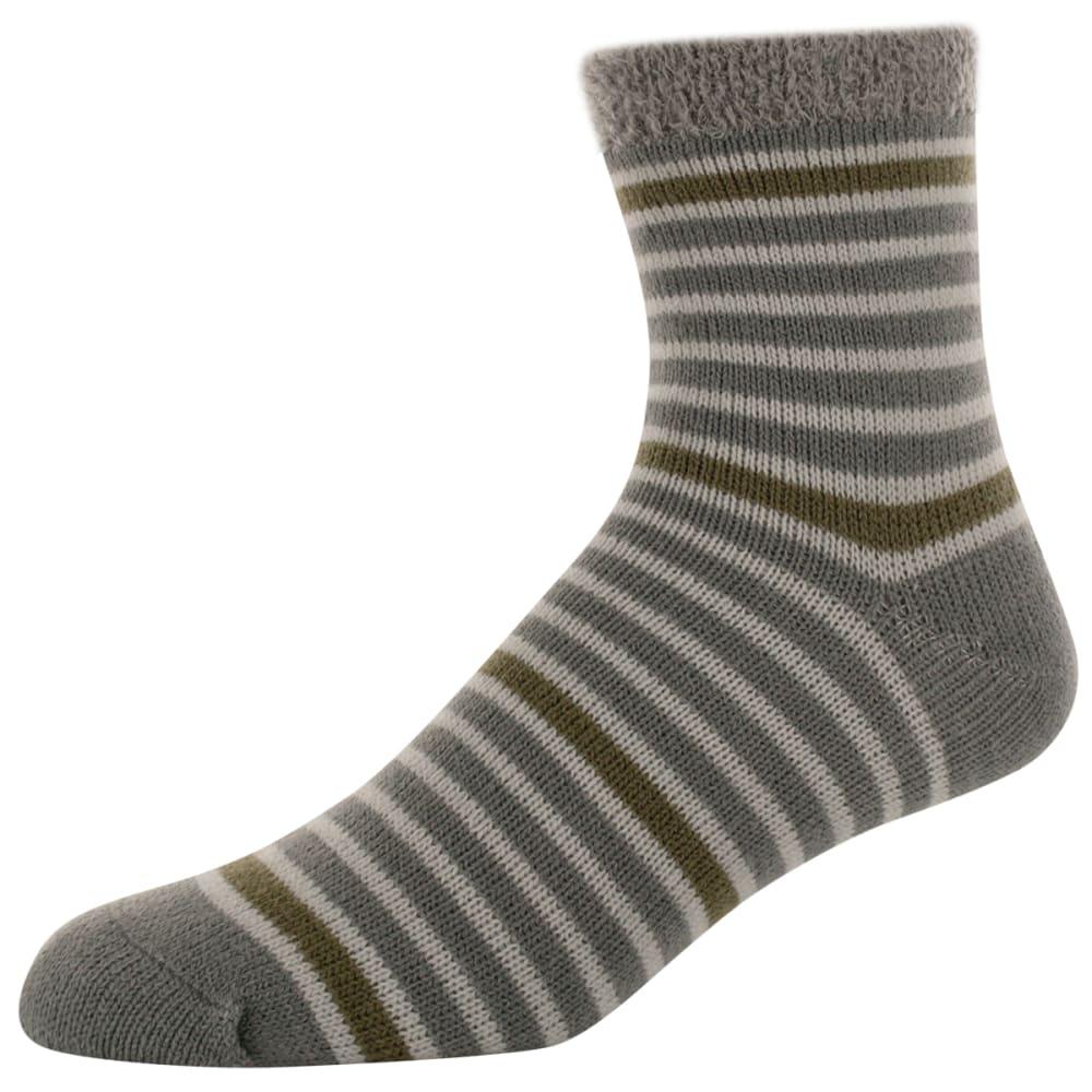 SOFSOLE Men's Fireside Stripe Cabin Socks - STEALTH GREY 81329