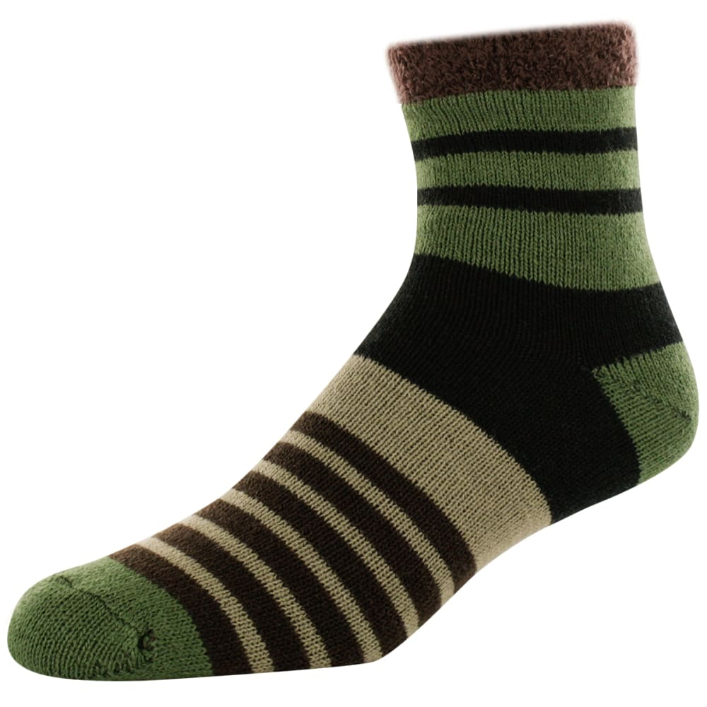 SOFSOLE Men's Chunky Fireside Cabin Socks - BLK GEO BLOCK81333