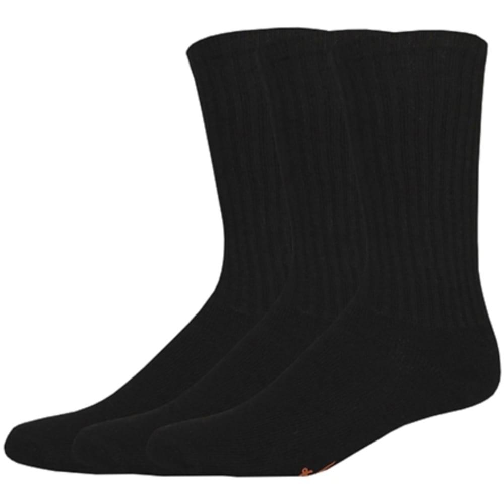 DOCKERS Men's Sport Crew Socks 3 Pack - 001 BLACK