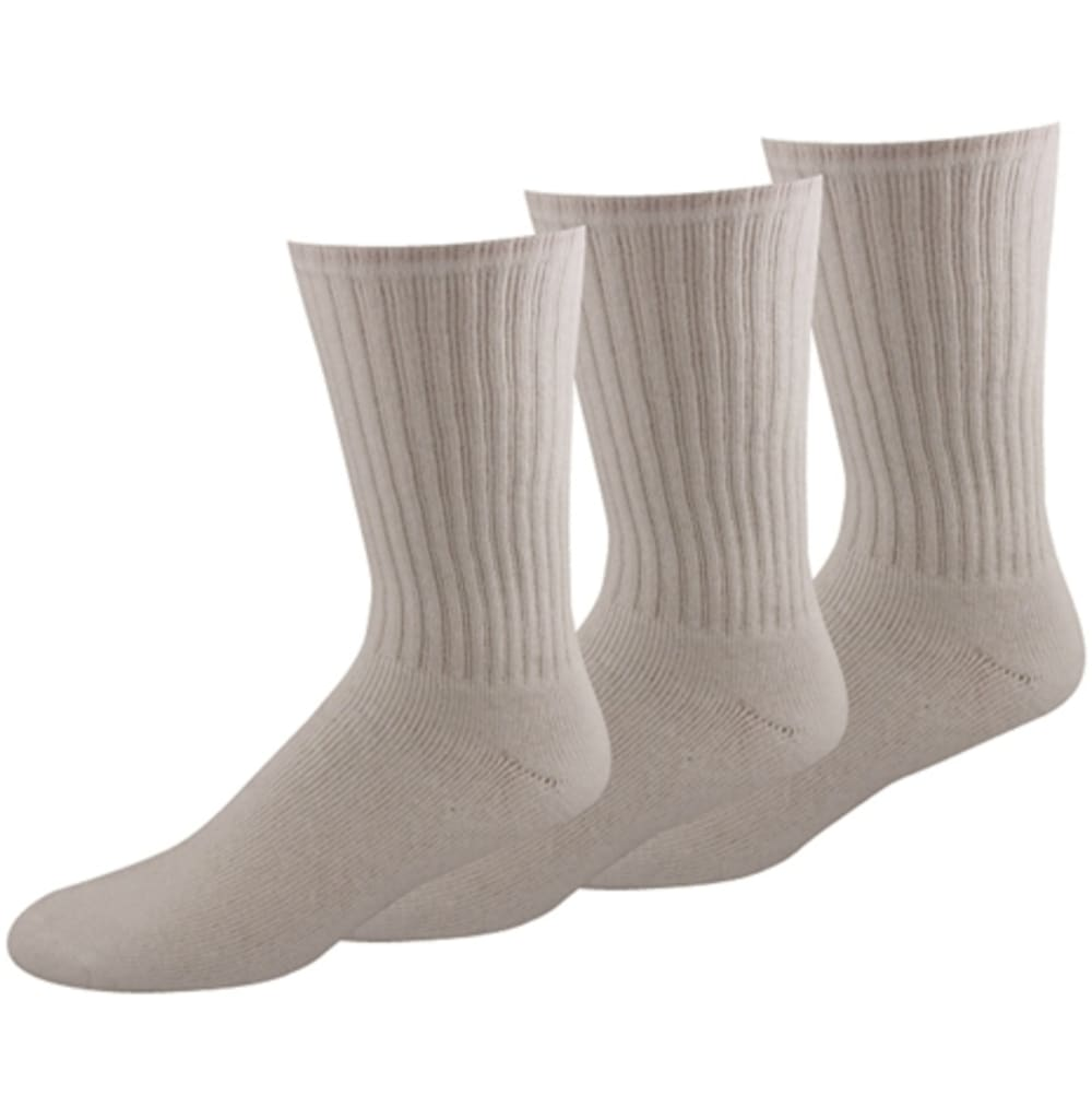 DOCKERS Men's 3-Pack Sport Crew Socks - 005 WHITE