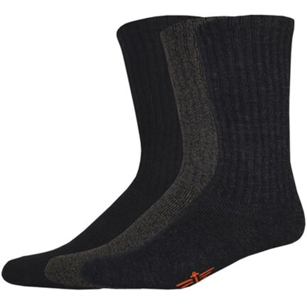 DOCKERS Men's Sport Crew Socks, 3-Pack - GRAY/NAVY