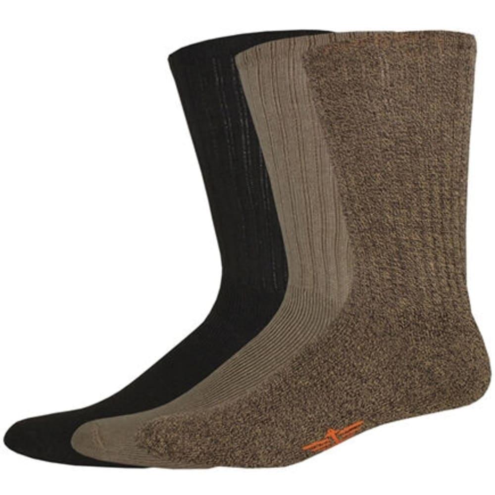 DOCKERS Men's Sport Crew Socks, 3-Pack - KHAKI
