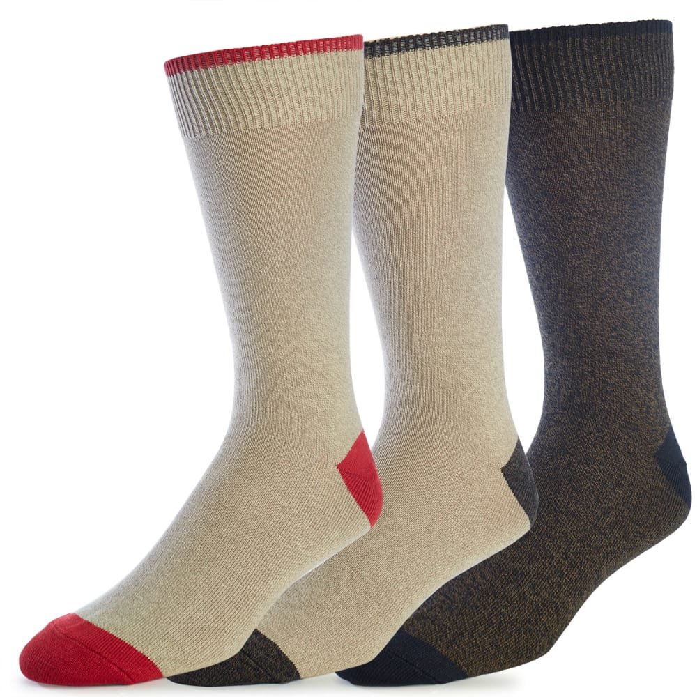 DOCKERS Men's Metro Crew Socks, 3-Pack - KHAKI