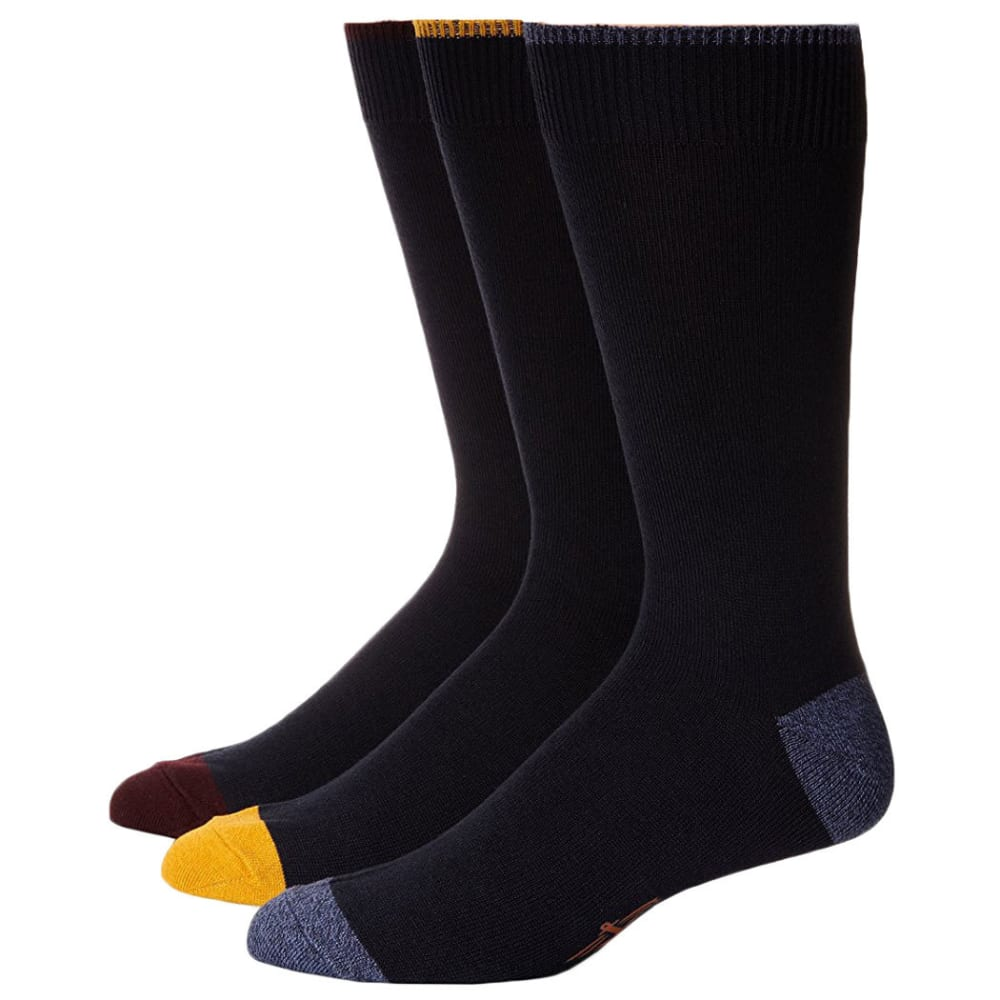 DOCKERS Men's Metro Crew Socks, 3-Pack - NAVY/BURGUNDY