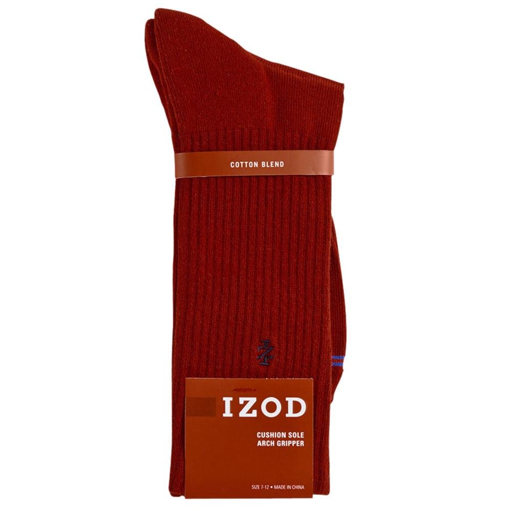 IZOD Men's Cushion Solid Crew Socks - RIO RED