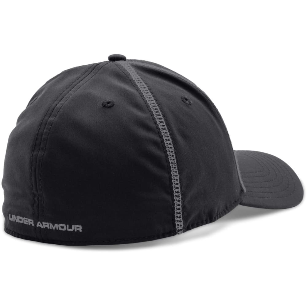 UNDER ARMOUR Men's Huddle Stretch Fit Cap - BLACK/GREY