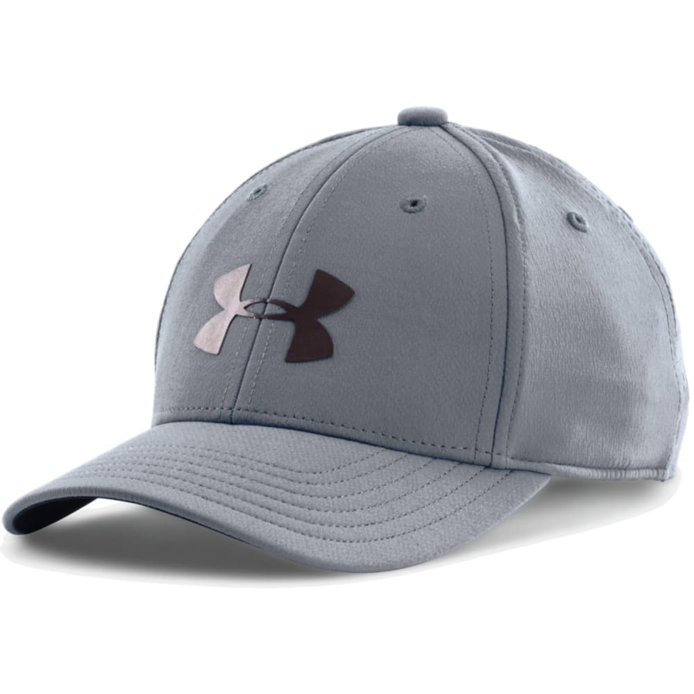 UNDER ARMOUR Boys' Headline Stretch Fit Cap - GRAY