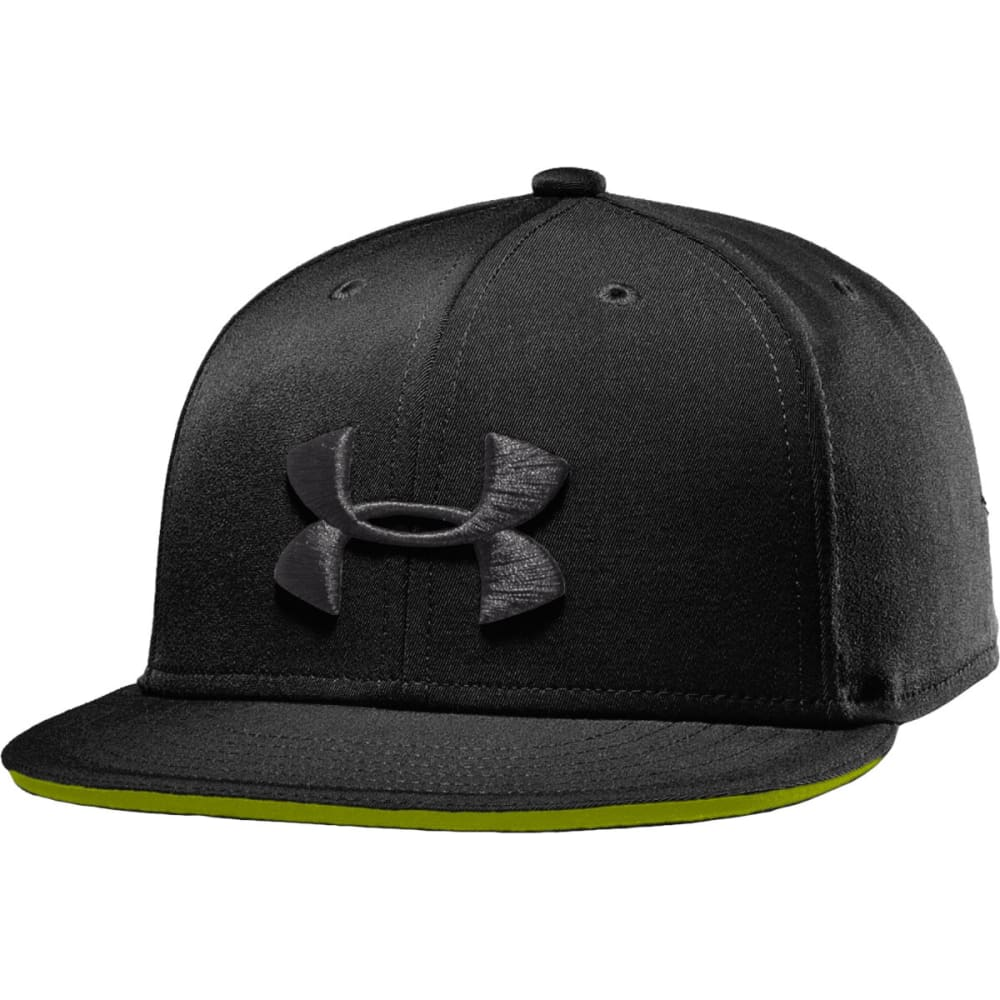 UNDER ARMOUR Youth Huddle Snap Back Cap - BLACK/HIVIS