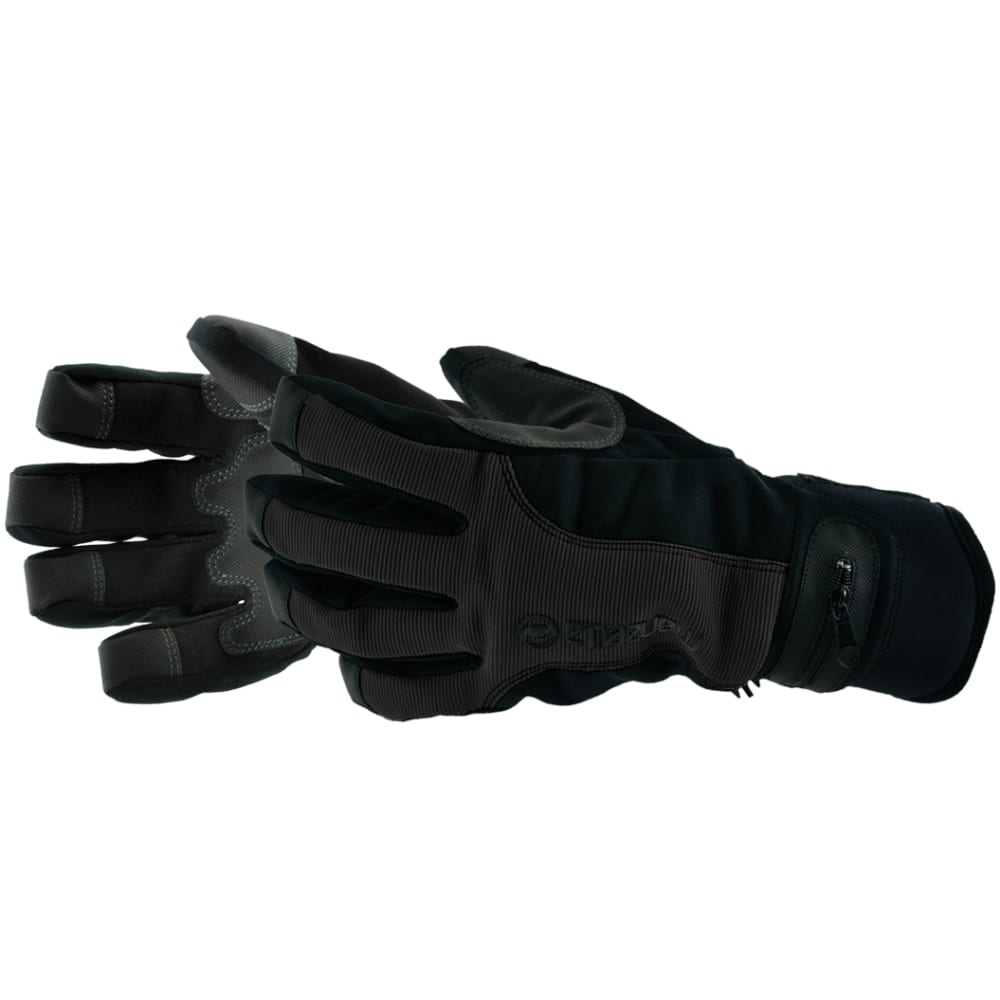 MANZELLA Men's Trail Boss Gloves - BLACK LEATHER