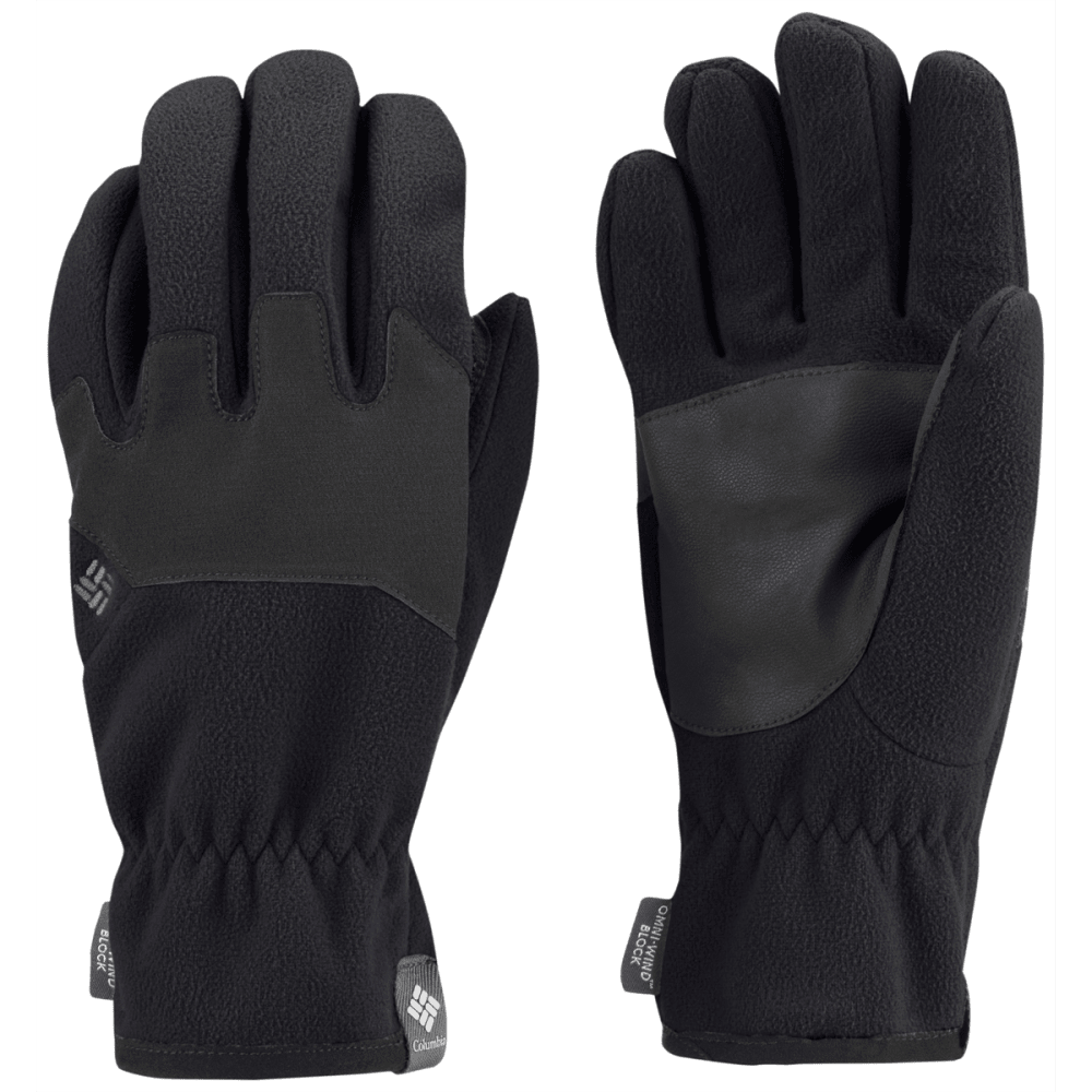 COLUMBIA Men's Wind Bloc Gloves - BLACK