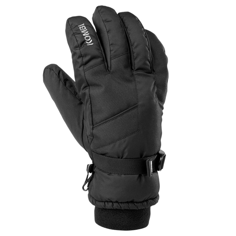 KOMBI Men's Pursuit Knit Cuff Ski Gloves - BLACK