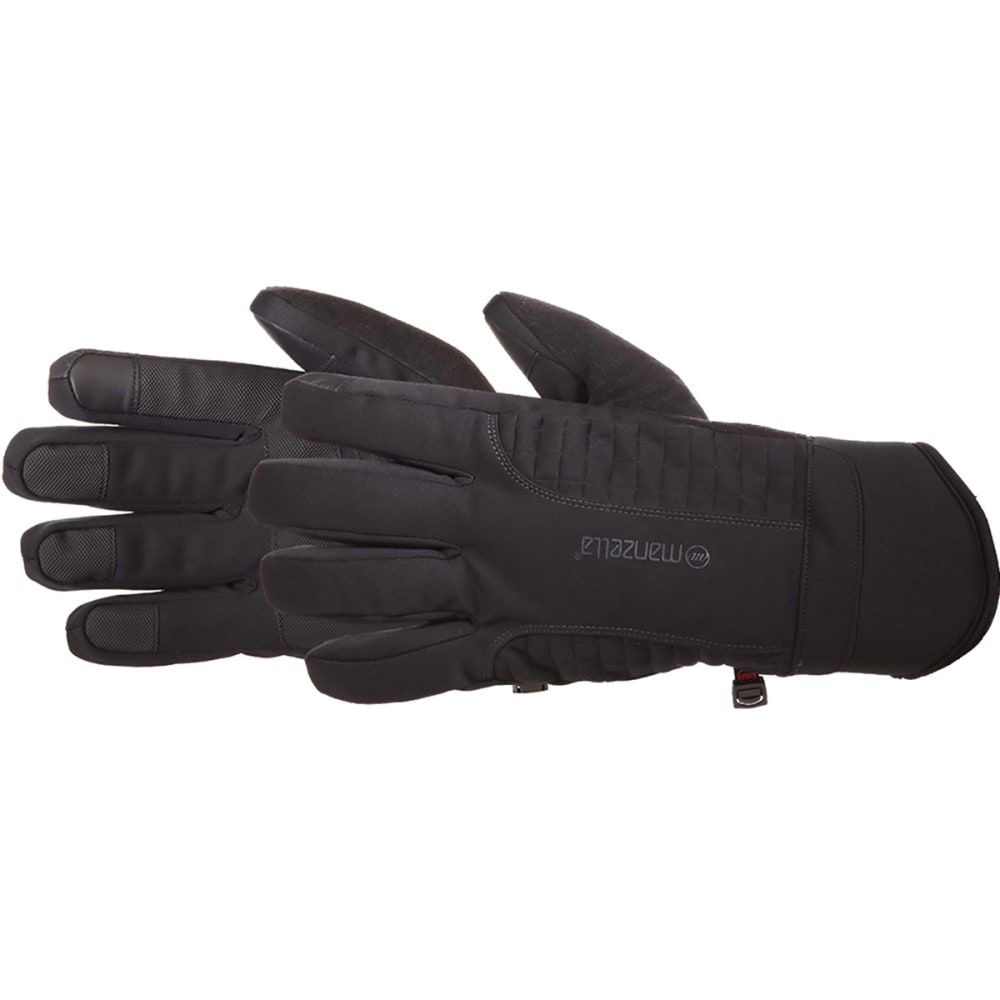 MANZELLA Men's Get Intense TouchTip Outdoor Gloves - BLACK