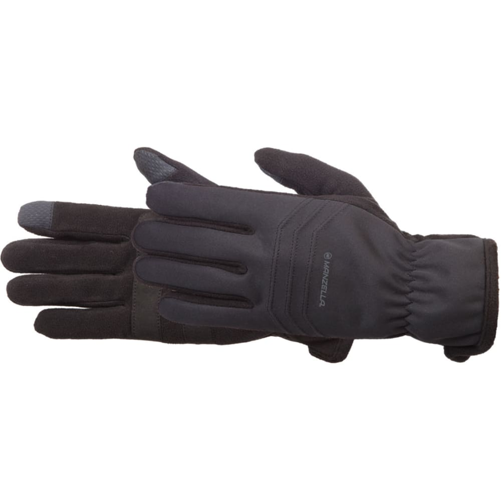 MANZELLA Men's Hybrid TouchTip Outdoor Gloves - BLACK