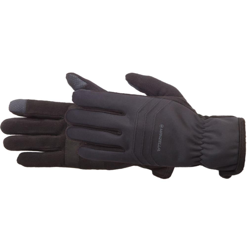 MANZELLA Men's Hybrid TouchTip Outdoor Gloves - BLACK