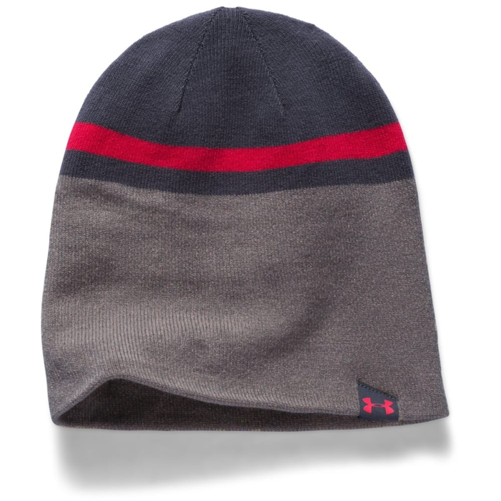 UNDER ARMOUR Men's UA 4 in 1 Beanie - GREY/RED