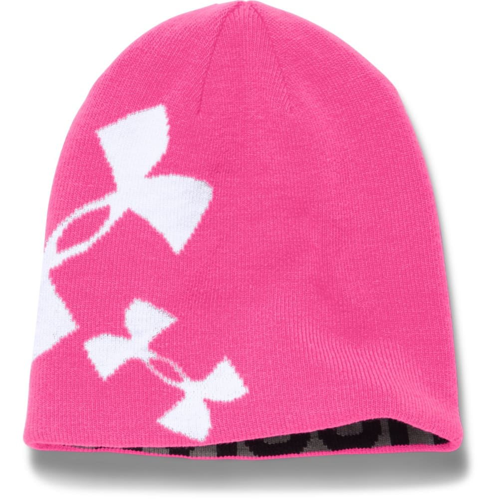 UNDER ARMOUR Girls' Glow Beanie - REBEL PINK