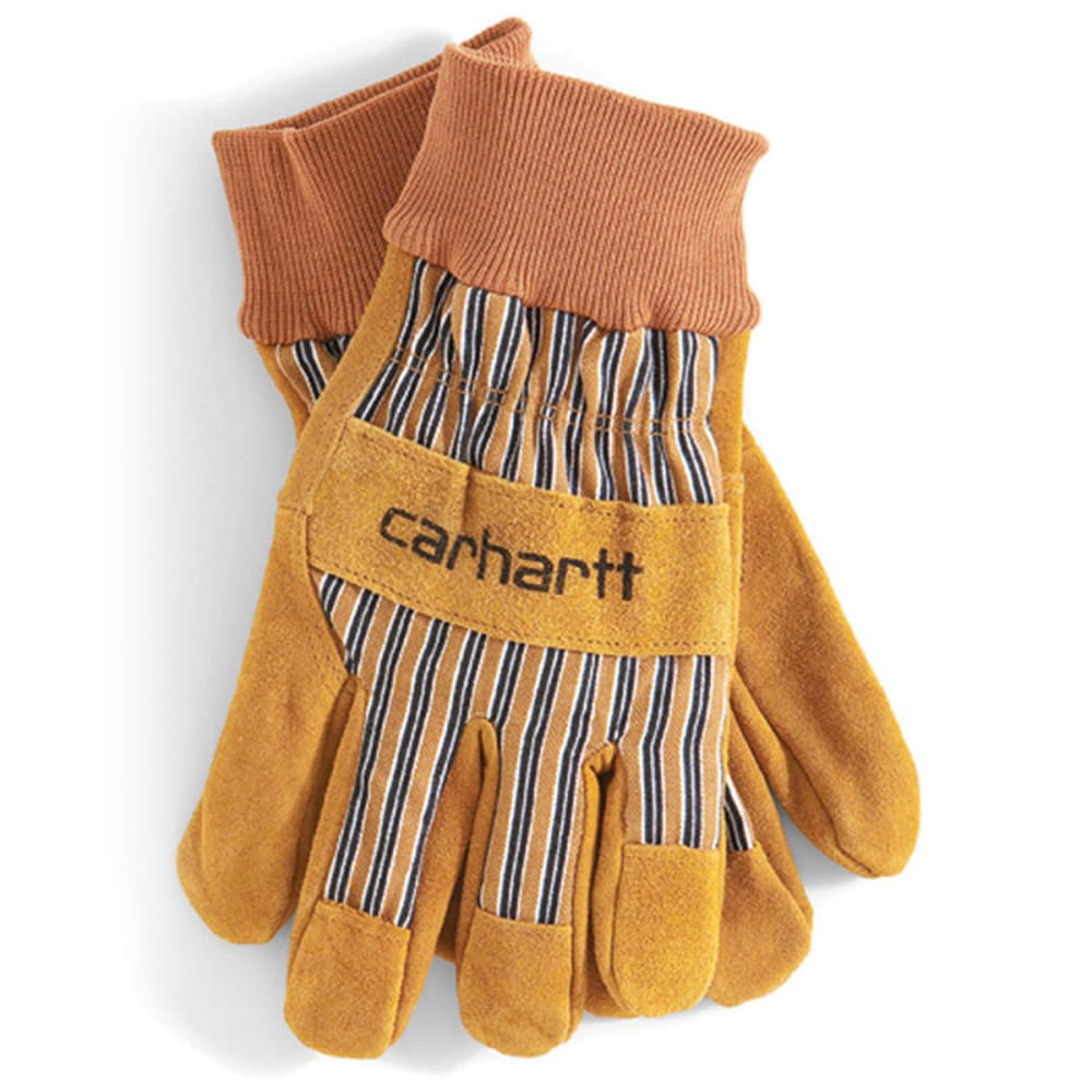 CARHARTT Men's Suede Work Gloves - BROWN